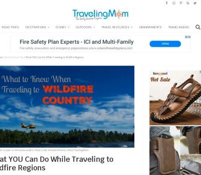 Safe Travel to Wildfire Regions